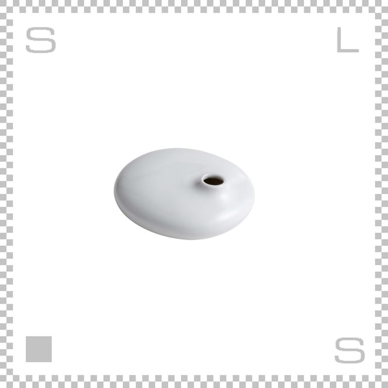 KINTO キントー SACCO サッコ ベース フラット ホワイト W110/D100/H40mm 150ml 花瓶 陶器製ベース