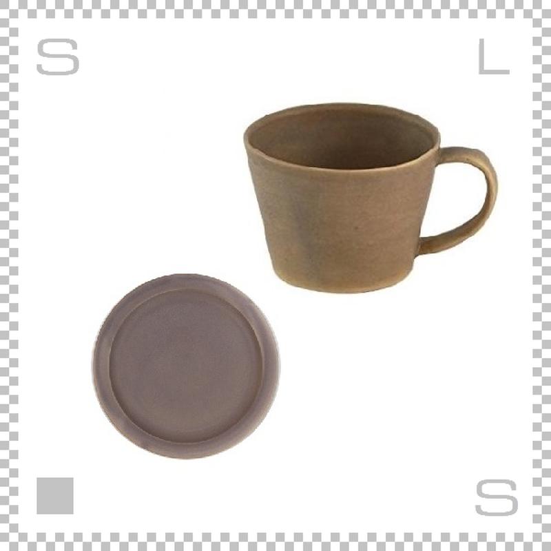 SAKUZAN サクザン SARA サラ コーヒーカップ&ソーサー ブラウン パステルカラー 日本製