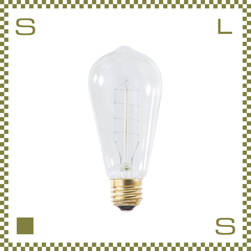 エジソンバルブ Sサイズ W5.8/D5.8/H12.6cm レトロ電球 azu-lhb90