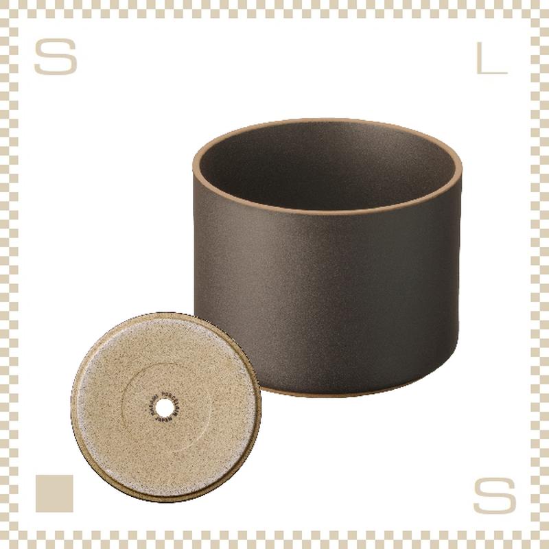 ハサミポーセリン プランター ブラック Φ145/H106mm スタッキング可 底穴付き HPB045 Hasami Porcelain