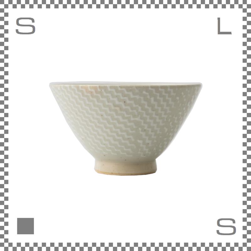 aiyu アイユー ORIME オリメ シャークスキン柄 茶碗 大 ホワイト Φ12/H7cm ライスボウル 波佐見焼 日本製