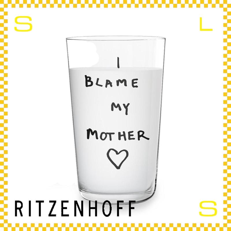 RITZENHOFF リッツェンホフ ミルクグラス 250ml I blame my mother ヒューゴ・ギネス Φ77/H128mm マイマザー ギフト  ritz-3500006