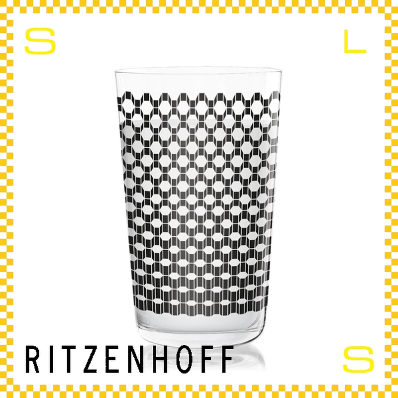 RITZENHOFF リッツェンホフ ミルクグラス 250ml ヘキサゴンモノグラム フクサス Φ77/H128mm タンブラー ヘキサゴンブロック ギフト  ritz-3500005