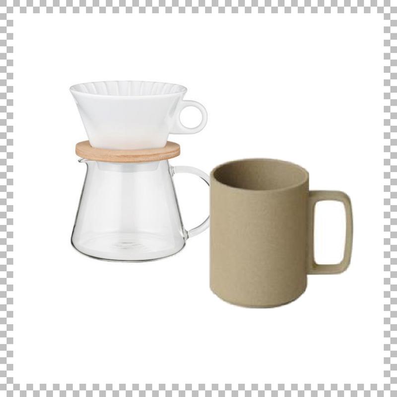 SNOWTOP COFFEE series スノウトップ コーヒーポット&ドリッパーセット 600ml & HASAMI PORCELAIN マグカップ Lサイズ ナチュラル