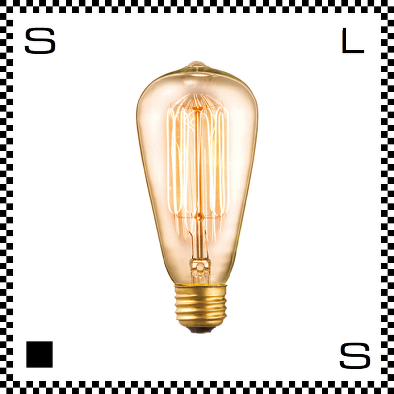 アートワークスタジオ レトロバルブランプ ST64電球 60W BU-1149