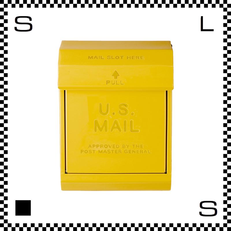 アートワークスタジオ U.Sメールボックス ダイヤル式 イエロー W283/D190/H380mm 壁付ポスト 鍵付き 郵便ポスト  TK-2078-YE