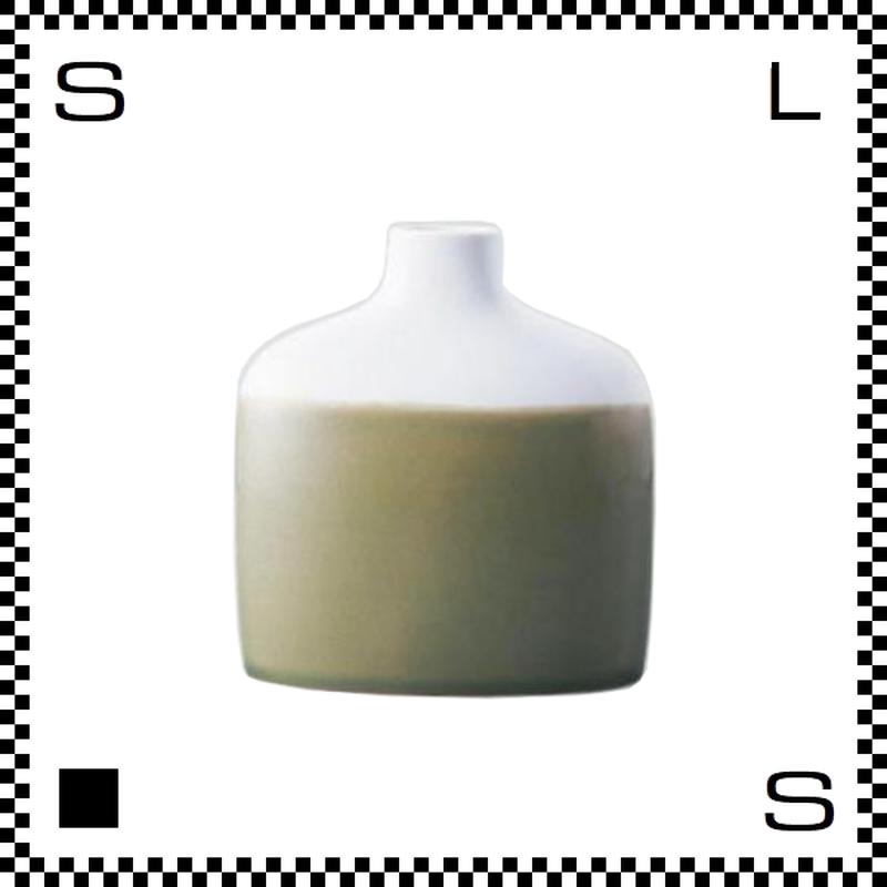 essence エッセンス ファミリーベース グリーン W13.5/D4.5/H15cm 花瓶 一輪挿し 波佐見焼 日本製