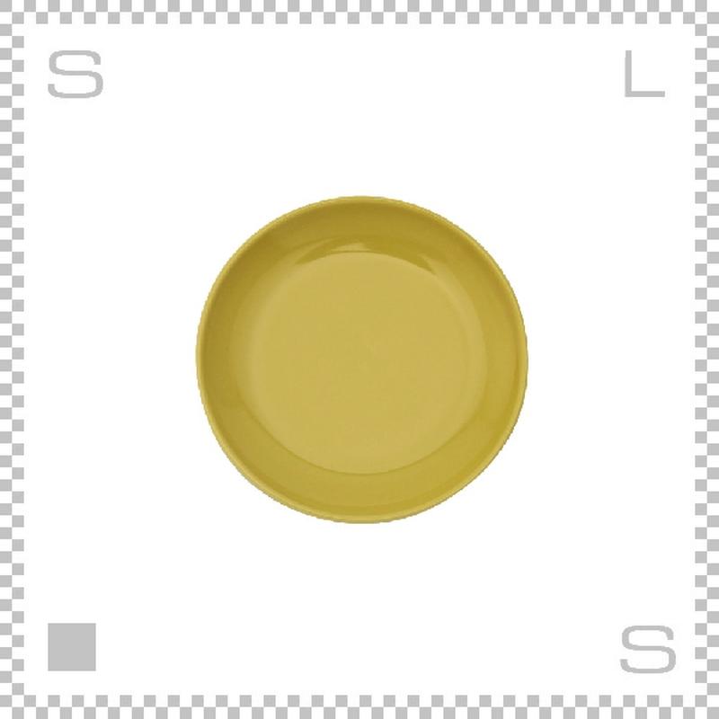 Common コモン プレート 180mm イエロー Φ180/H21mm 波佐見焼 日本製