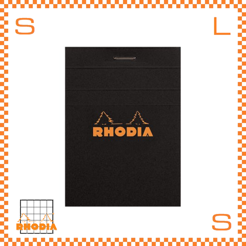 ROHDIA ロディア ブロックメモ No.11 方眼 ブラック 10冊セット 7.4×10.5cm 80P フランス製