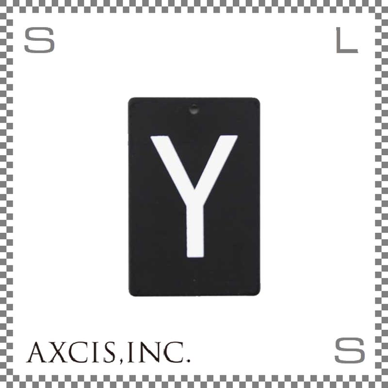 """AXCIS アクシス アイアンプレート """"Y"""" W40/D2/H60mm アルファベットプレート スチール製 アイアンネームプレートホルダー用 hs2582"""
