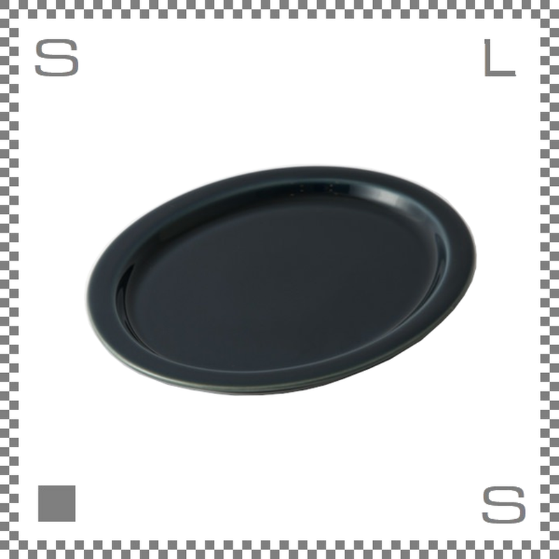 aiyu アイユー プレート ルリ 瑠璃 W18.4/D15/H1.5cm オーバルプレート リムあり 波佐見焼 日本製