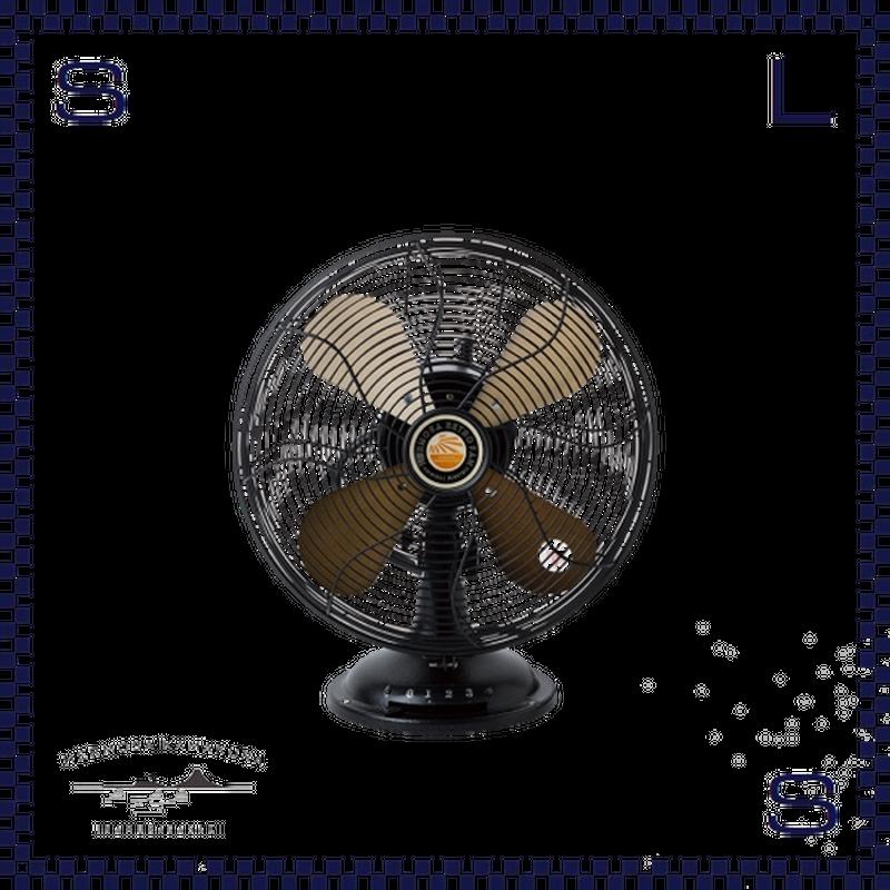 HERMOSA ハモサ レトロファンテーブル 2019 ブラック W335/D250/H425mm 扇風機 コンパクト 卓上ファン RETRO FAN TABBLE rf-0119-bk