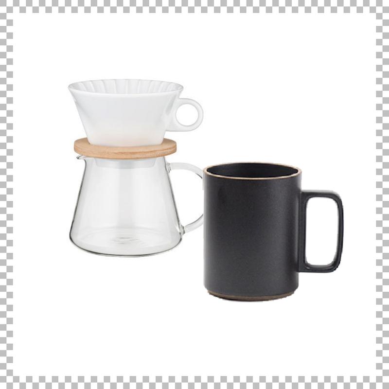 SNOWTOP COFFEE series スノウトップ コーヒーポット&ドリッパーセット 600ml & HASAMI PORCELAIN マグカップ Lサイズ ブラック