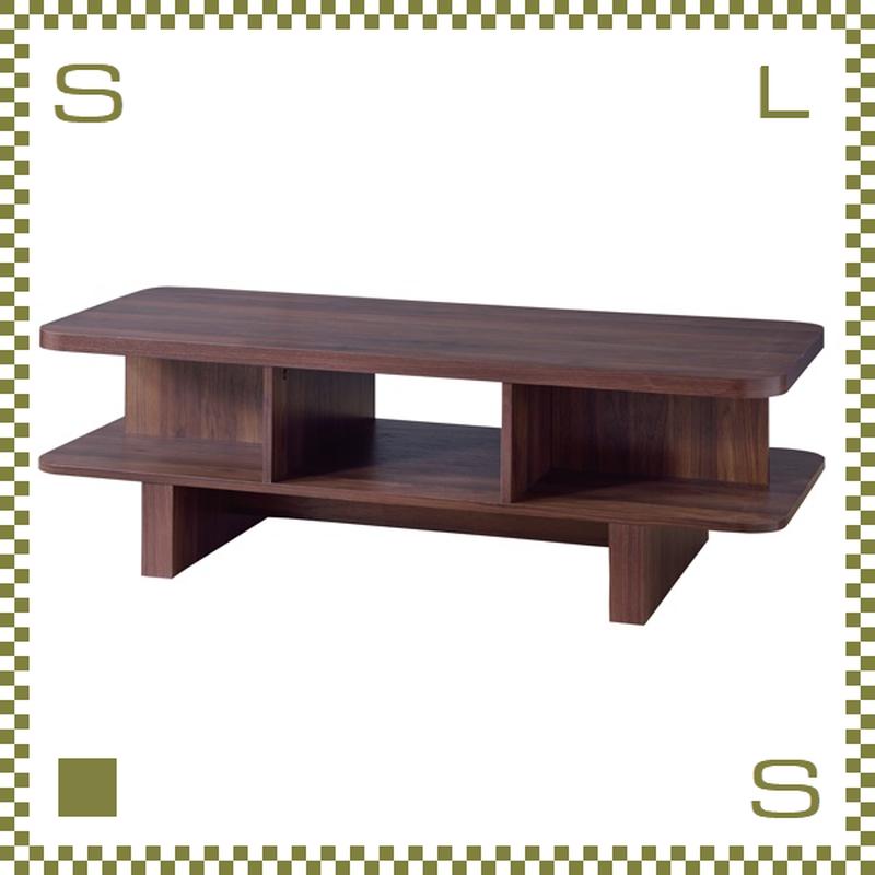 センターテーブル バリ風 2段 W120/D50/H39cm ローテーブル ボックス型 azu-ol852