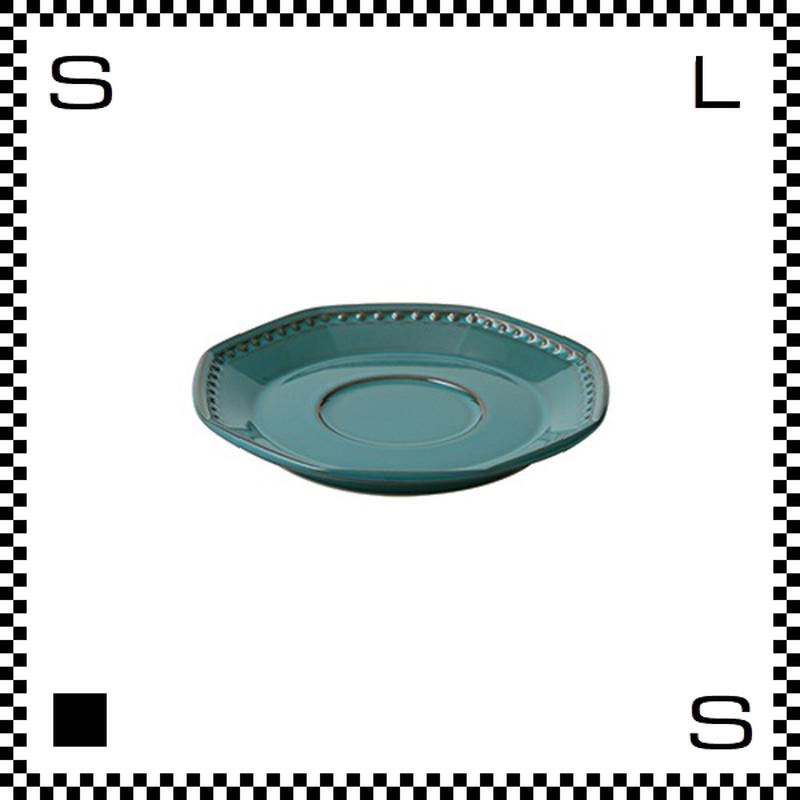 Coline コリーヌ ソーサー アズール ターコイズ W158/D155/H23mm オクタゴン 八角形 クラシックデザイン 日本製