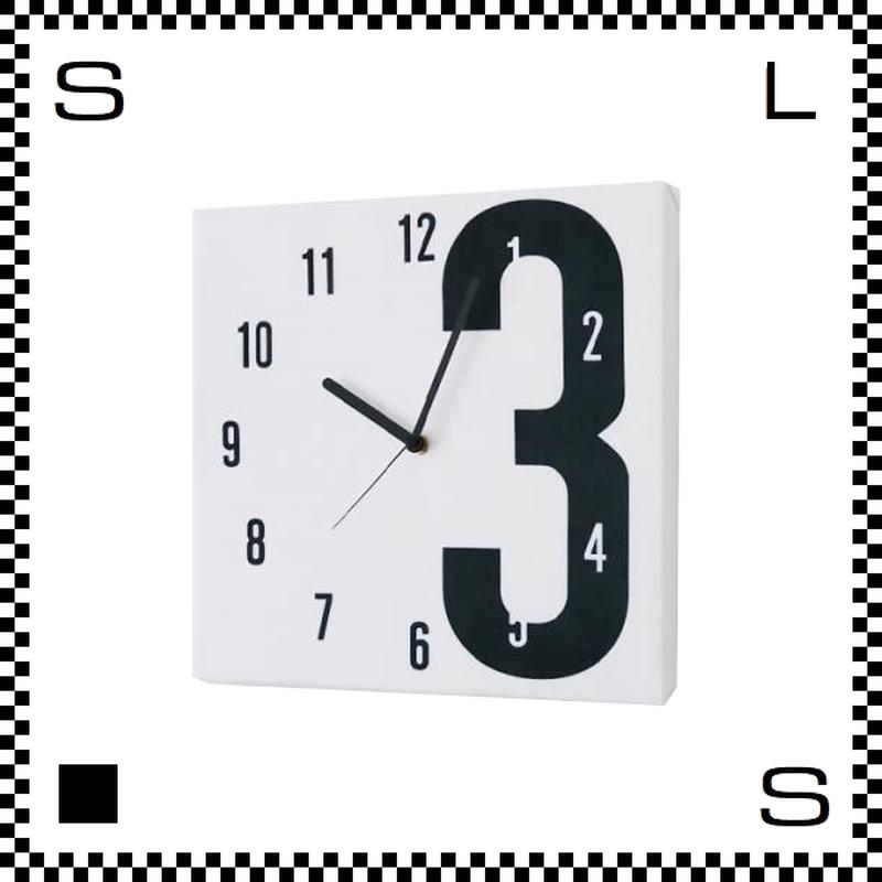 3 ファブリック モダン W30/D2/H30cm クロス張り ウォールクロック 壁掛け時計 スイープクオーツ使用 日本製