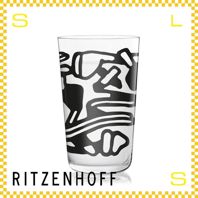RITZENHOFF リッツェンホフ ミルクグラス 250ml モダンアート サイマン・チョウ Φ77/H128mm タンブラー 抽象画 ギフト  ritz-3500003