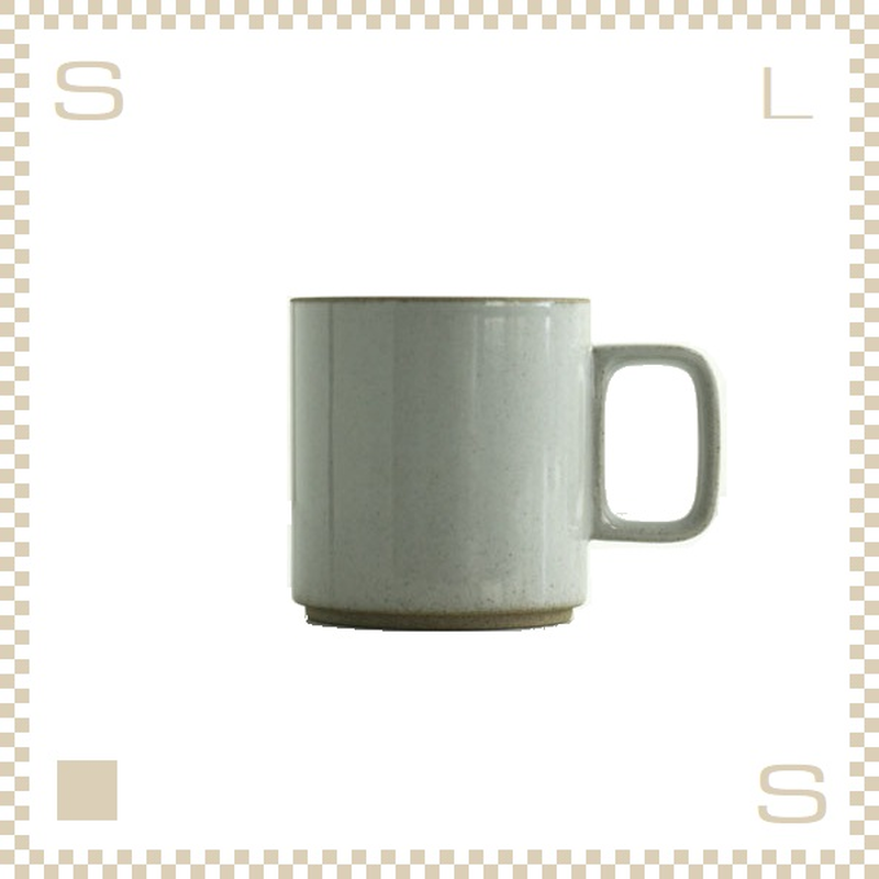 ハサミポーセリン マグカップ Mサイズ クリア グロス Φ85/H89mm 380ml スタッキング可 HPM020 Hasami Porcelain
