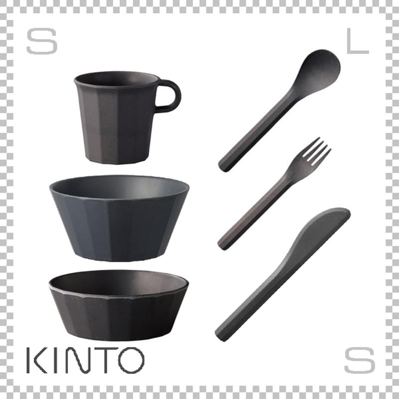 KINTO キントー ALFRESCO アルフレスコ ボウル2サイズセット ブラック ボウル マグ カトラリーセット 樹脂製 アウトドア グランピング