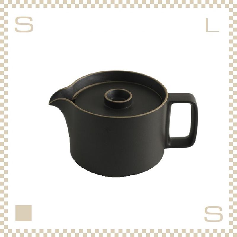 ハサミポーセリン ティーポット ブラック Φ145/H106mm スタッキング可 HPB018 Hasami Porcelain
