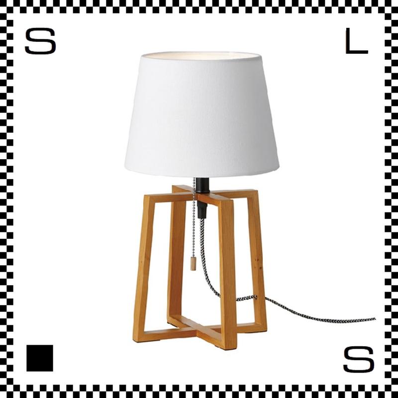 アートワークスタジオ Espresso エスプレッソテーブルランプ ホワイト 電球付 Φ220/W205/H370mm スタンドランプ ファブリックシェード ウッドフレーム  AW-0506V-WH
