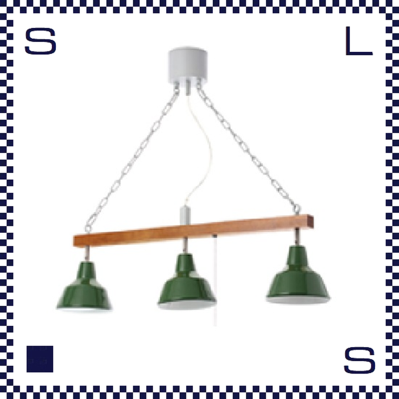 HERMOSA ハモサ MARTTI 3 マルティ3 ブラック/グリーン ペンダントランプ 3灯ランプ ペンダントライト