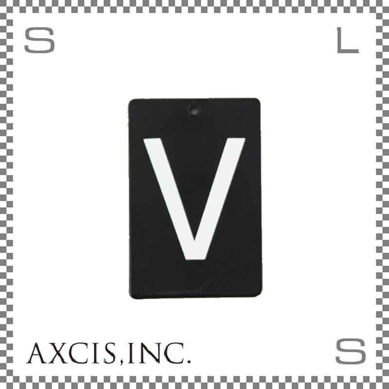 """AXCIS アクシス アイアンプレート """"V"""" W40/D2/H60mm アルファベットプレート スチール製 アイアンネームプレートホルダー用 hs2579"""