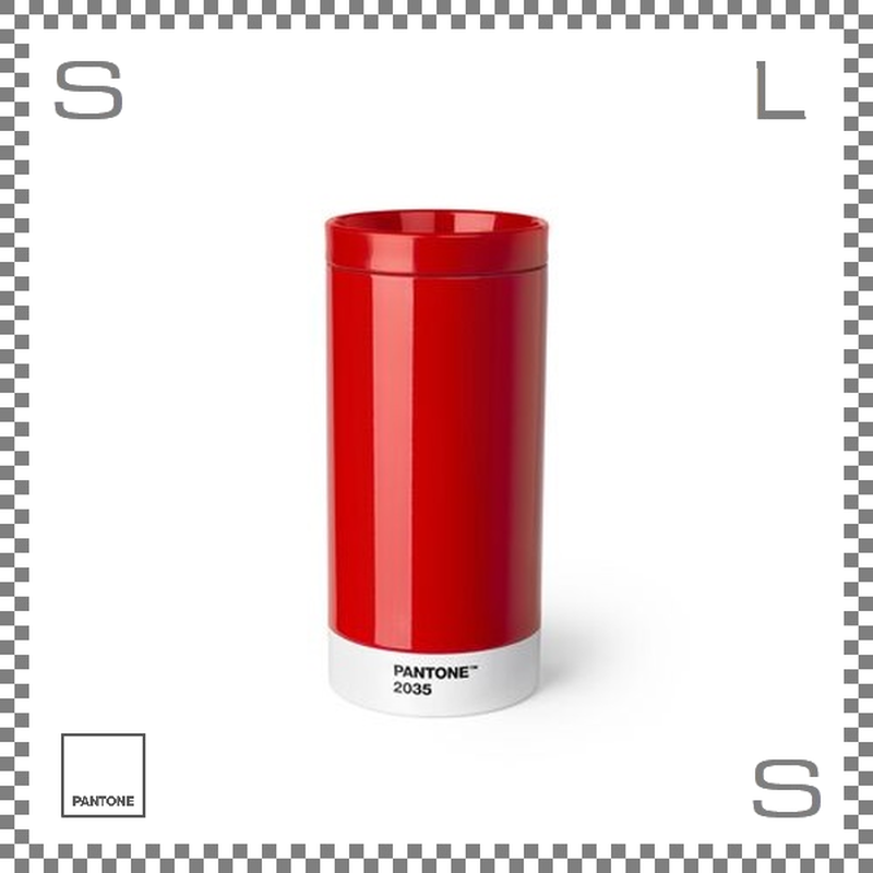 PANTONE パントン テイクアウトタンブラー レッド 430ml Φ75/H164mm ステンレスボトル 魔法瓶