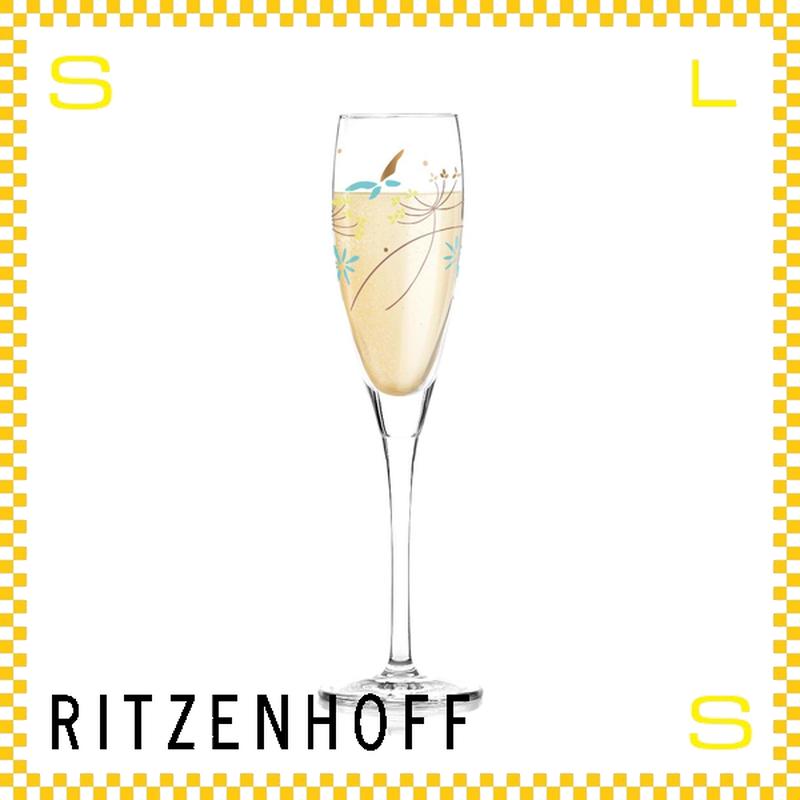 RITZENHOFF リッツェンホフ シャンパングラス 120ml フラワー ドミニク・テージ Φ45/H220mm フルートグラス 花柄 ギフト  ritz-3250026