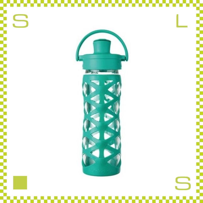 LIFEFACTORY ライフファクトリー グラスボトル アクティブキャップ 475 アクアティックグリーン 475ml 携帯ボトル ガラスボトル