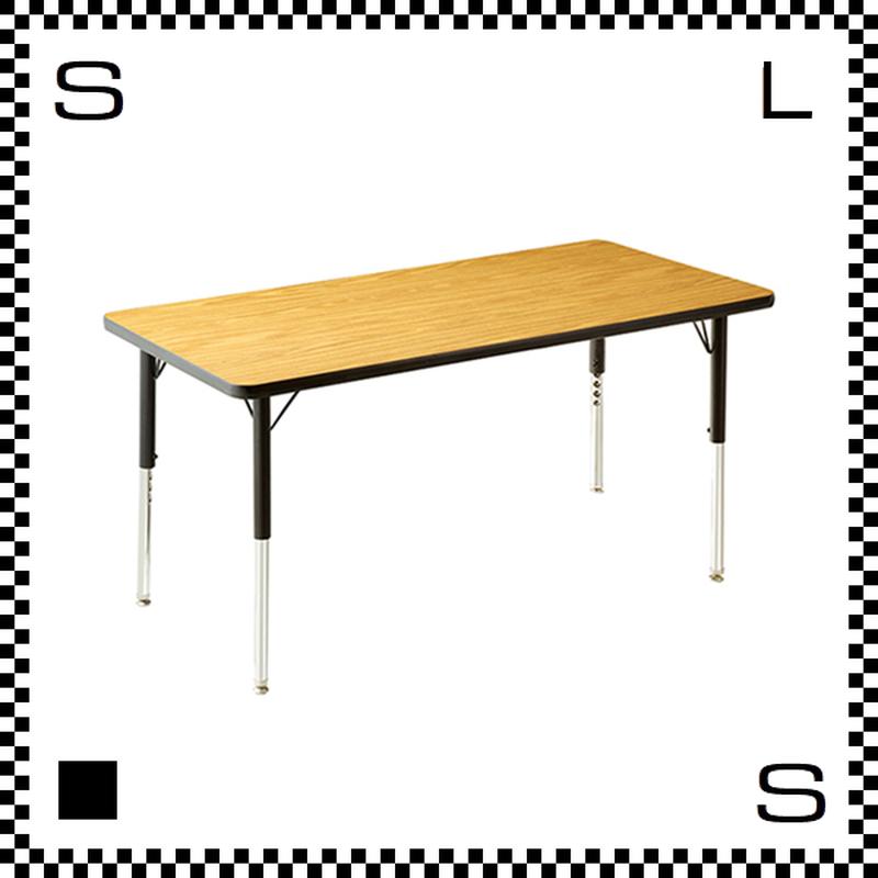 ヴァルコ テーブル Sサイズ オーク 1220×608mm VIRCO社 高さ調節可能 ユニバーサルデザイン 店舗・業務用 TR-4227-OK