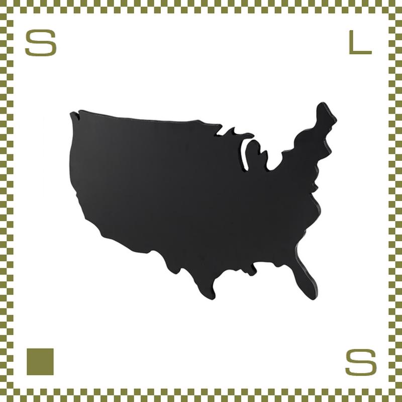 ブラックボード USA Lサイズ W120/D2.5/H73.5cm 黒板 アメリカ大陸モチーフ ウォールデコ azu-lfs594