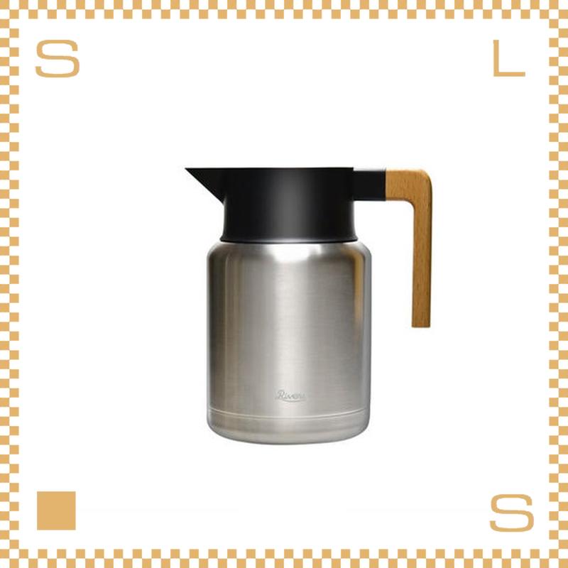 RIVERS リバーズ サーモジャグ キート シルバー 1.3L 保温ポット ウッドハンドル 魔法瓶 THERMO JUG KEAT