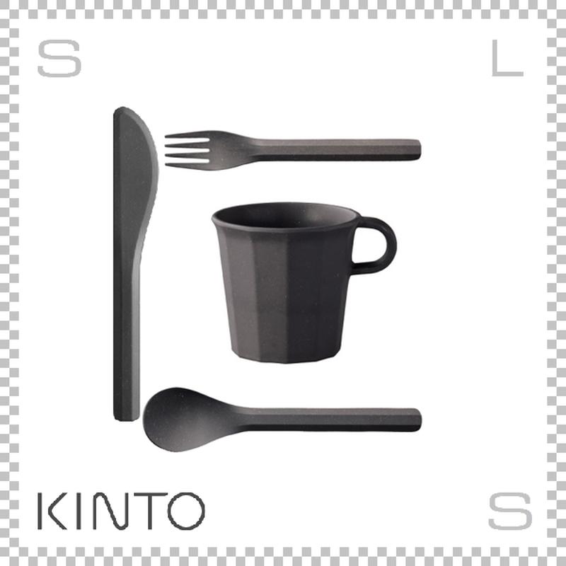 KINTO キントー ALFRESCO アルフレスコ マグカップセット ブラック マグ カトラリーセット 樹脂製 アウトドア グランピング