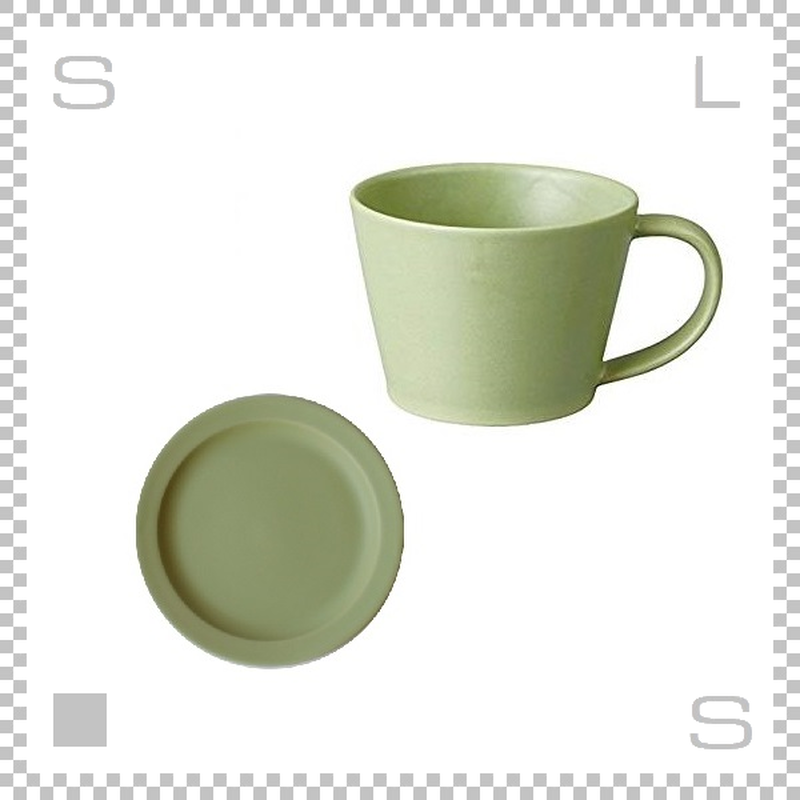 SAKUZAN サクザン SARA サラ コーヒーカップ&ソーサー モスグリーン パステルカラー 日本製