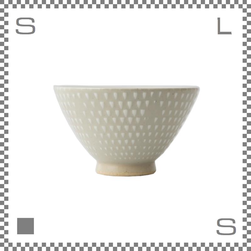 aiyu アイユー ORIME オリメ 鹿の子 カノコ 茶碗 大 ホワイト Φ12/H7cm ライスボウル 波佐見焼 日本製