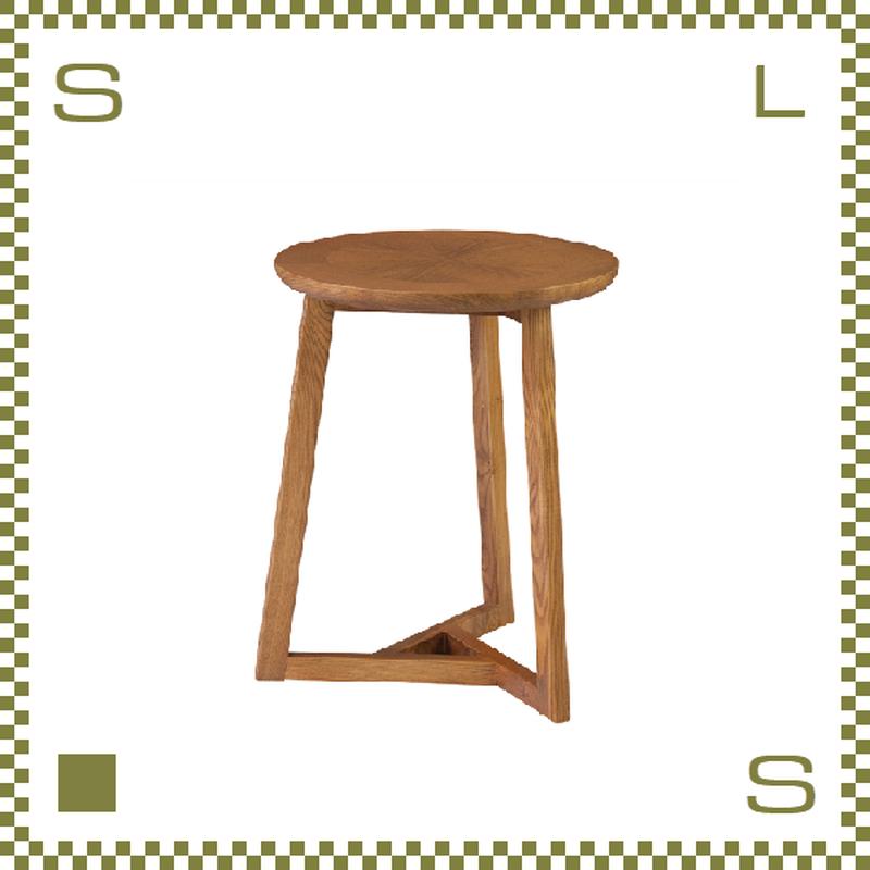 サイドテーブル 3本脚 ナチュラルカラー W40/D40/H50m トライアングルレッグ azu-cl330br