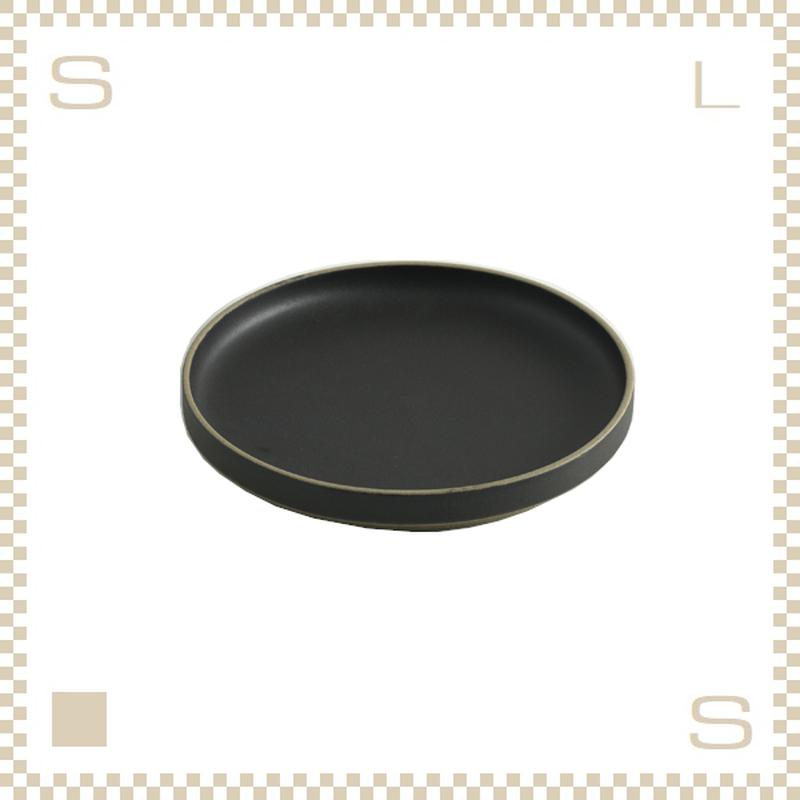 ハサミポーセリン プレート 直径185mm ブラック Φ185/H21mm スタッキング可 HPB003 Hasami Porcelain