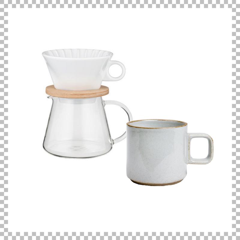 SNOWTOP COFFEE series スノウトップ コーヒーポット&ドリッパーセット 600ml & HASAMI PORCELAIN マグカップ Sサイズ クリア(グロス)