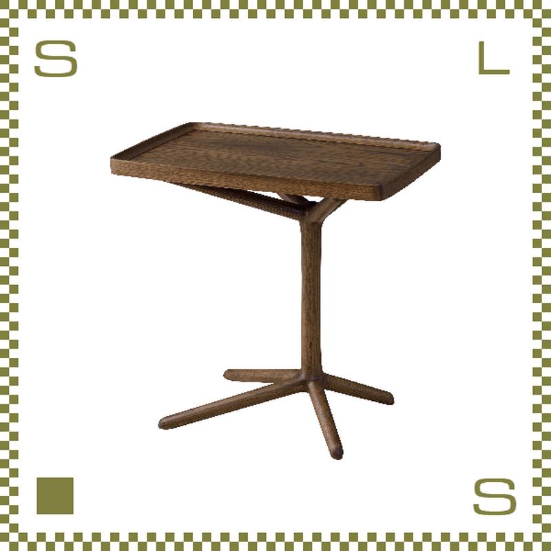 2WAY サイドテーブル ブラウン W54/D33/H38.5(51)cm 切替テーブル azu-gt880br