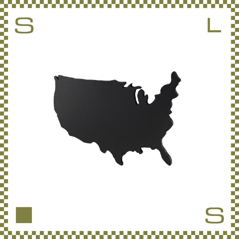 ブラックボード USA Sサイズ W62/D2.5/H41cm 黒板 アメリカ大陸モチーフ ウォールデコ azu-lfs592