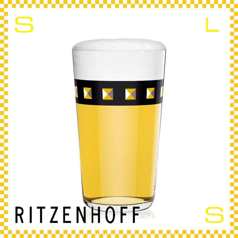 RITZENHOFF リッツェンホフ ビアグラス 330ml スタッズ柄 ソニア・ペドラッツィ Φ80/H140mm タンブラー ブラックライン ギフト  ritz-3510003
