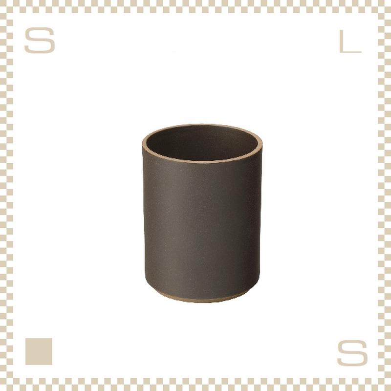 ハサミポーセリン タンブラー コンテナ ブラック Φ85/H106mm スタッキング可 HPB038 Hasami Porcelain