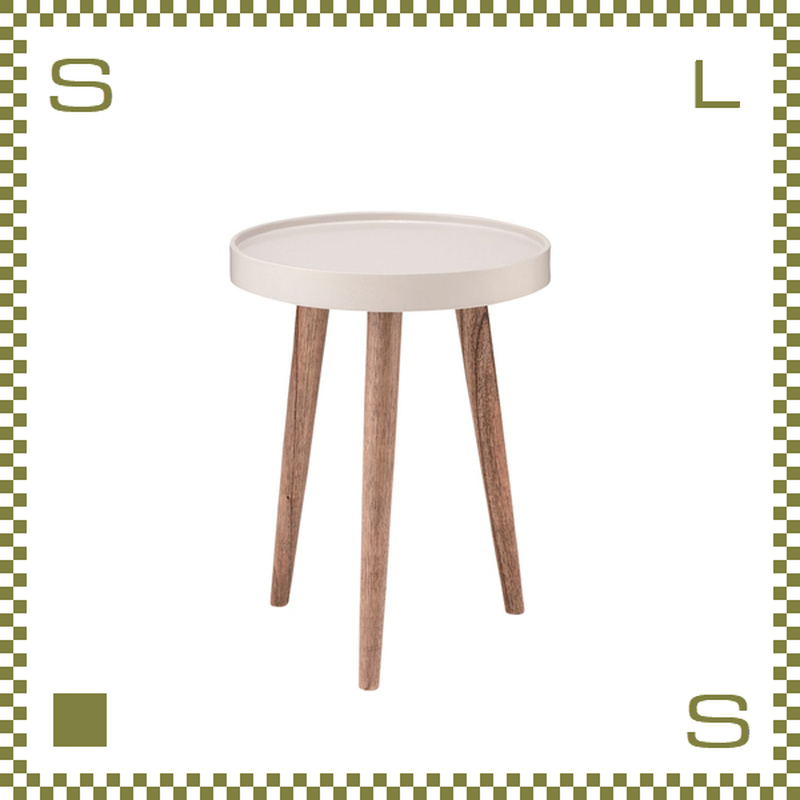 トレーテーブル W35/D35/H45cm サイドテーブル ミニテーブル 縁付き天板 azu-nw723