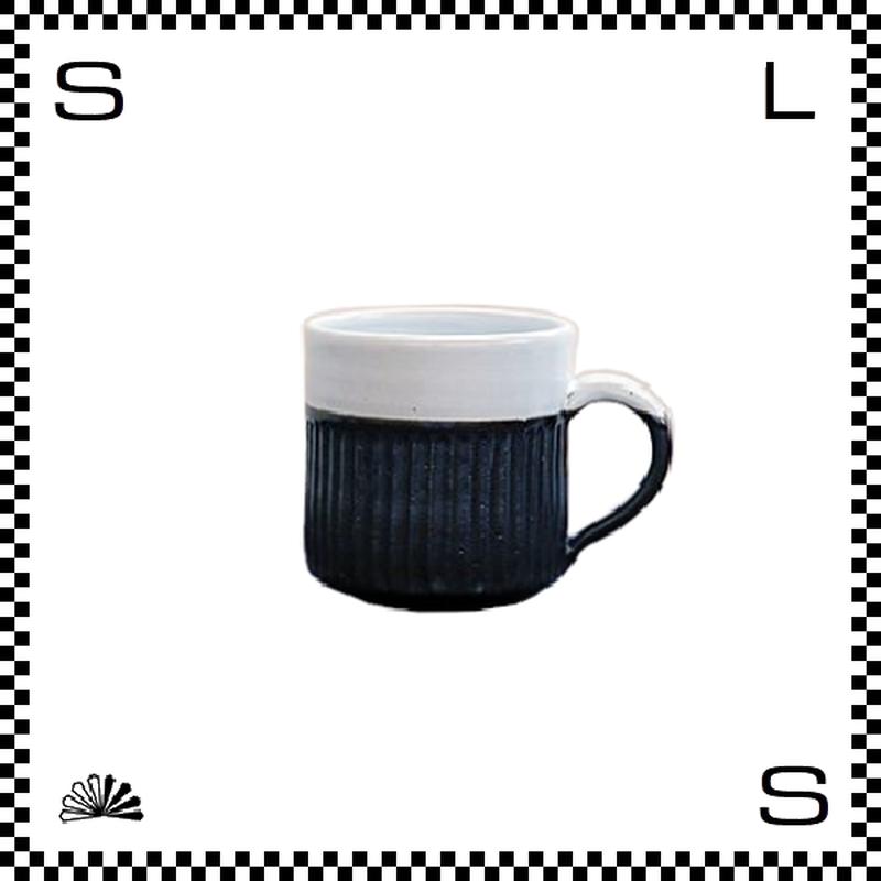 TS TanbaStyle マグカップ ブラック&ホワイト Φ80/D90mm マグ 刷毛目 市野元祥 丹波焼 日本製
