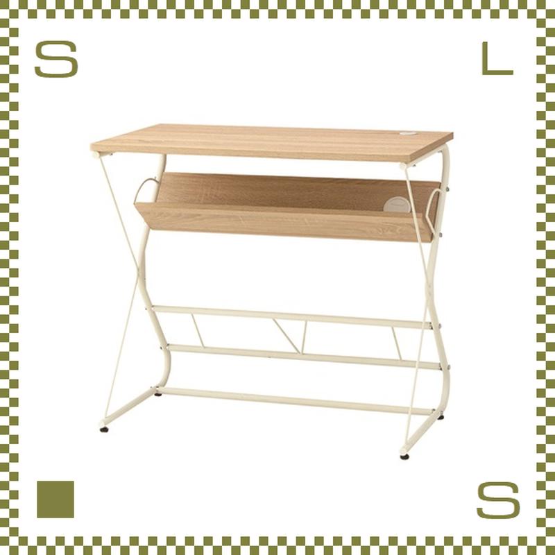 カウンターテーブル ホワイト W80/D45/H72cm 棚付き サイドテーブル azu-pt901wh