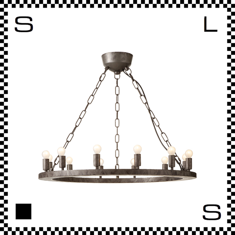 アートワークスタジオ Elements12 電球付 アンティークシャンデリア 12灯 Φ685/H205mm 上向きシャンデリア クラシック レトロ AW-0381V