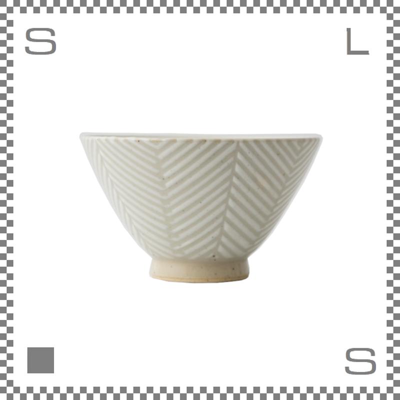 aiyu アイユー ORIME オリメ ヘリンボーン 茶碗 大 ホワイト Φ12/H7cm ライスボウル 波佐見焼 日本製