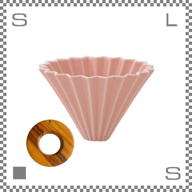 ORIGAMI オリガミ ドリッパーセット ドリッパー Mサイズ ピンク 2~4杯用 &専用ドリッパーホルダー