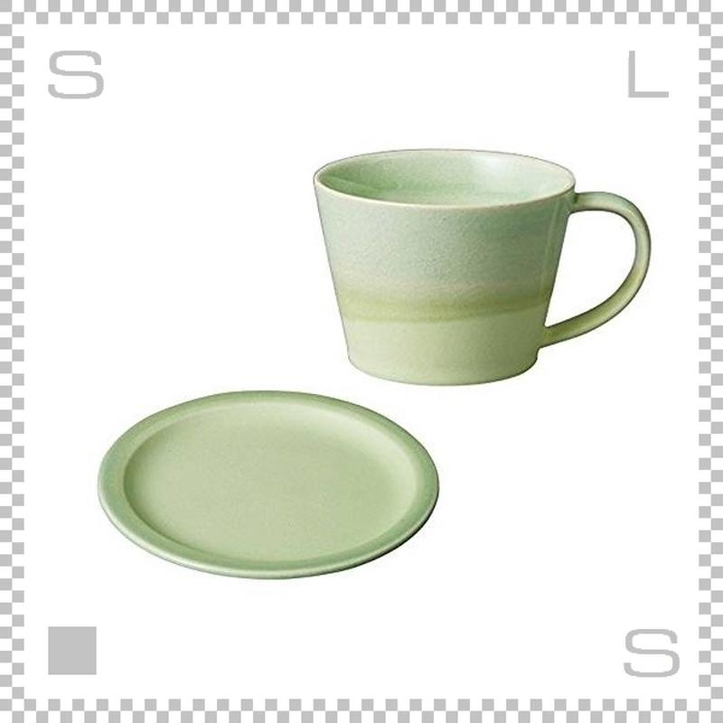SAKUZAN サクザン COLOR カラー カップ&ソーサー グリーン パステルカラー 日本製